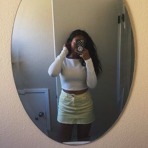 Dresses & Skirts - Pale Yellow Jean Skirt